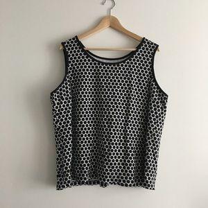 Lands End polka dots tank top blouse